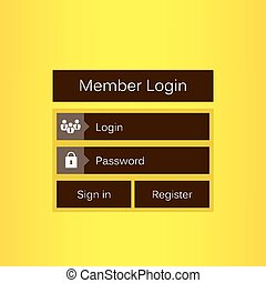Mobile vector user ui kit form interface. For web page, site...