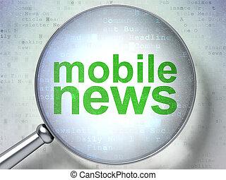 mobile, vetro, ottico, concept:, notizie