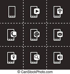 mobile, vettore, set, icona