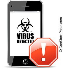 Mobile virus icon