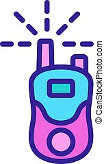 mobile walkie talkie icon vector outline illustration