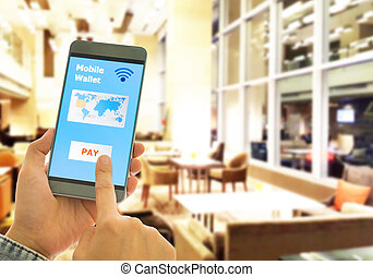 mobile wallet - A digital wallet to pay for goods and...