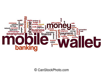 Mobile wallet word cloud concept
