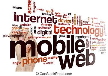 Mobile web word cloud concept