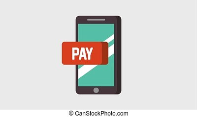 mobile with pay application digital animation