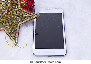 mobile with star in the snow