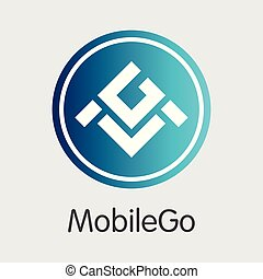 Mobilego - Digital Coin Vector Icon of Cryptographic. - ...