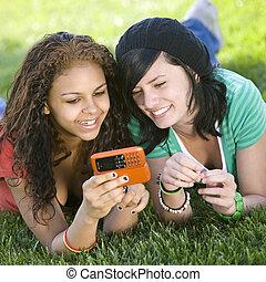 mobilfunk, anteil, freundinnen, pics