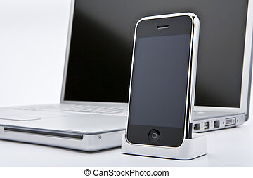 mobilfunk, laptop-computer