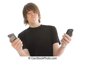 mobilfunk, männlich jung, teenager