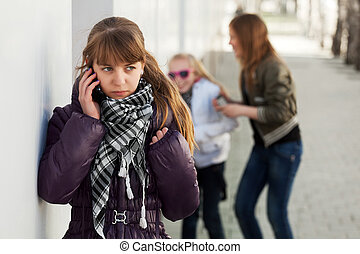 mobilfunk, teenagermädchen, berufung