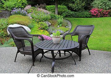 mobiliario de patio