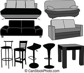 mobiliario, vectors, furniture-home, trabajando