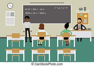 mobilier scolaire, education, processus
