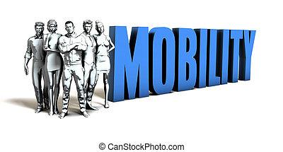 mobilità, concetto affari