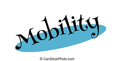mobilité, timbre, caoutchouc