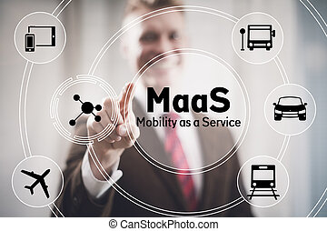 Mobility as a Service concept illustration