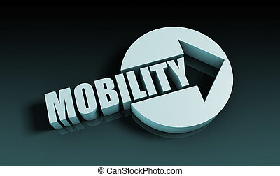 Mobility Concept With an Arrow Going Upwards 3D