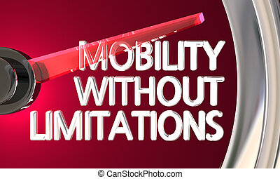 Mobility Without Limitations Speedometer Gauge 3d...