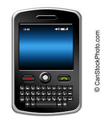 mobiltelefon, illustration