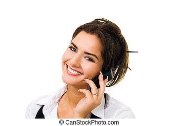 mobiltelefon, le womanen, tala