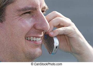 mobiltelefon, man