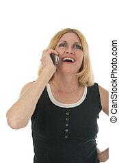 mobiltelefon, n, skratta