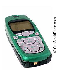 mobiltelefon, smaragd