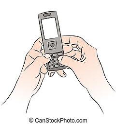 mobiltelefon, texting