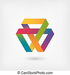 Mobius strip multi-color symbol
