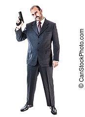 Mobster - portrait of a classy businessman or mobster or...