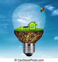 moc, energia, tła, projektować, alternatywa, twój
