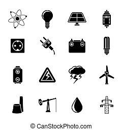 moc, ikony, elektryczność