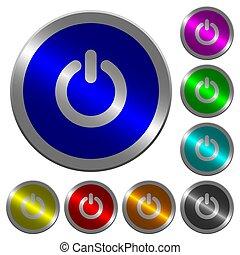 moc, kolor, pikolak, witka, coin-like, świecący, okrągły