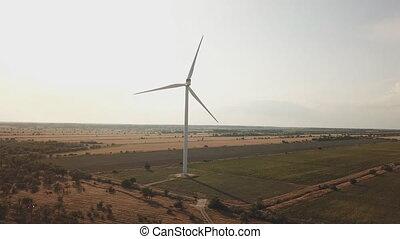 moc, wiatr, panujący, turbina