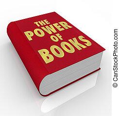 moc, znaczenie, osłona, książki, słówko, czytanie książka