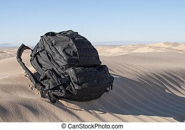 mochila, deserto