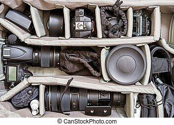 mochila, fotografia, jogo