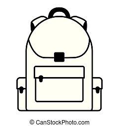 mochila, fundo branco