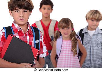 mochilas, niños