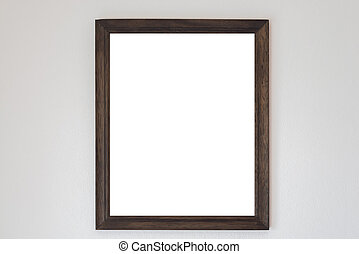 Mock up Blank Poster with Wooden frame on Cement wall