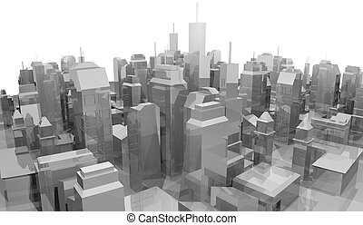Mock-up city - Creative design of mock-up city