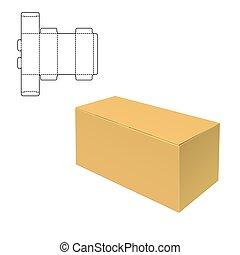 Mock up Clear Box - Vector Illustration of Diecut Craft Box ...