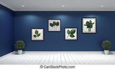 Mock up, hipster living room interior design, 3D rendering