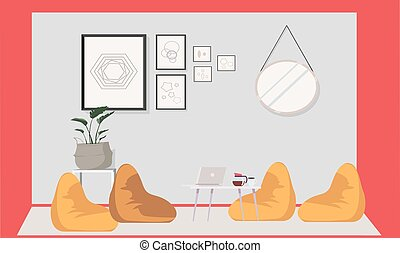 mock up illustration of a advanced meeting room
