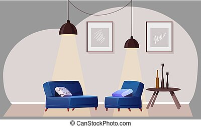 mock up illustration of couch in a meeting room