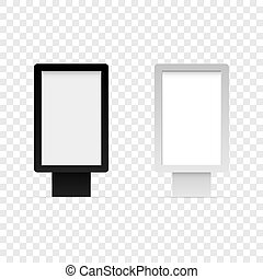 Mock up lightbox isolated on white back