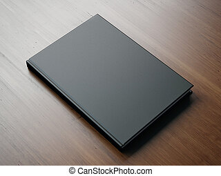Mock up of blank small black book. 3d rendering