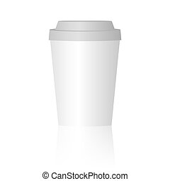 Mock up papercup with shadow. Vector illustration