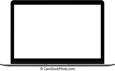 mock up personal laptop computer on white background vector ...